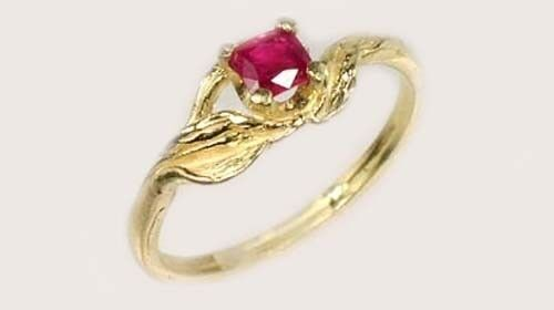 Gold Ruby Ring 1/3ct A+ Antique 19thC Gem of Ancient Asia Warrior Invincible 14k