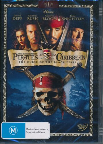 Pirates of The Caribbean Curse Of The Black Pearl DVD NEW Orlando Bloom Depp