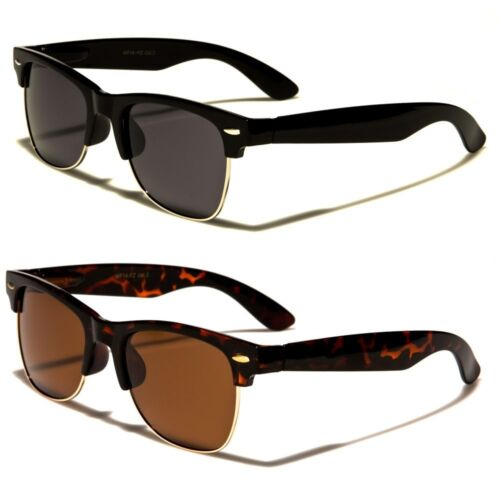 Polarized Classic Vintage Sunglasses Mens Womens Metal Half Frame