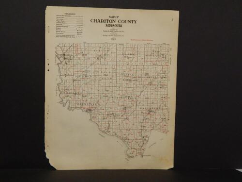 Missouri Chariton County Map  School Districts  1915  Y9#25