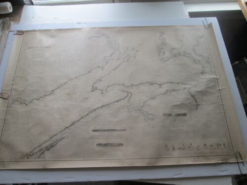"ORIGINAL 1899 US NAVY HYDROGRAPHIC OFFICE, NAUTICAL CHART #609,  ""BAY OF FUNDY"""