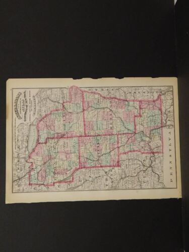 New York Map For Counties See Description   1870  Y9#57
