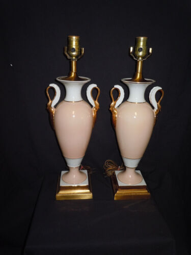 BEAUTIFUL FREDERICK COOPER FRENCH EMPIRE SWAN TABLE LAMPS! SO FINE NO RESERVE
