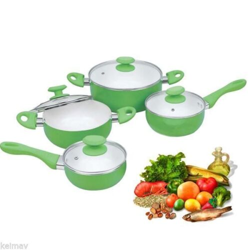 Induction 8Pc Premium Juego Ceramic Pan Casserole Set pans cooker <br/> Paypal Accepted✔Same Business Day*Dispatch✔Powerseller✔
