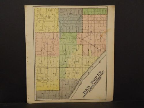Wisconsin Pierce County Map Oak Grove  Township 1895   J11#72