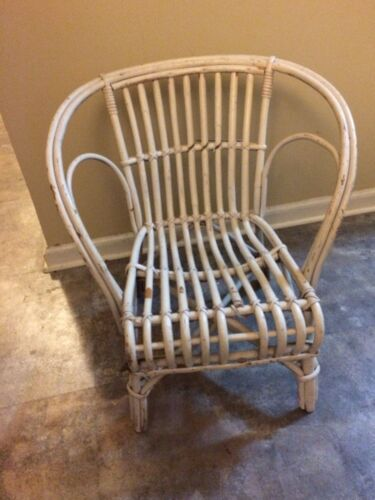 Antique Bentwood Twig Wicker Childs Chair - circa 1900