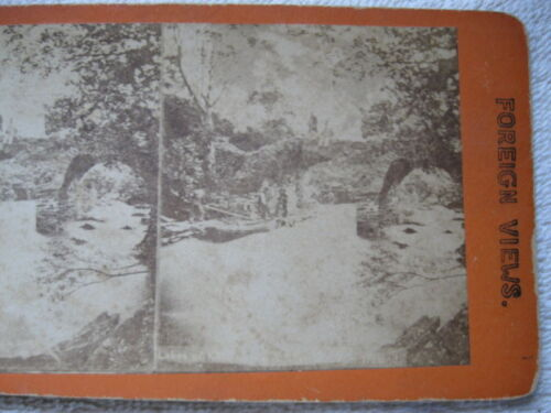 1800s SCENE FROM LAKE KILKENNY(?), IRELAND STEREOVIEW