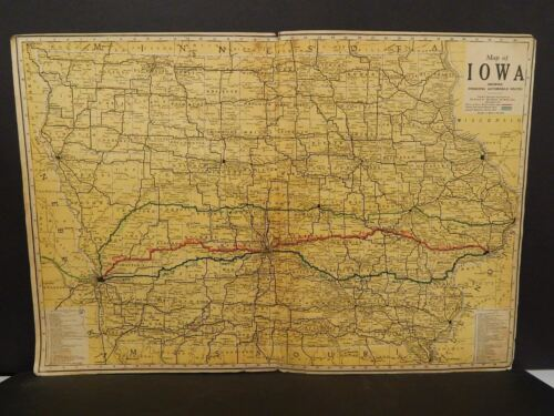 State of Iowa Map 1914 Double Page W8#01