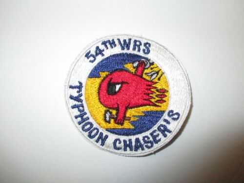 b5062 US Air Force Typhoon Chasers 54 WRS Weather Reconnaissance Sq wht IR24A