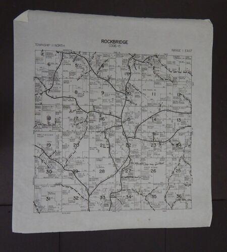 Wisconsin Richland County Map Rockbridge Township c.2010 Master