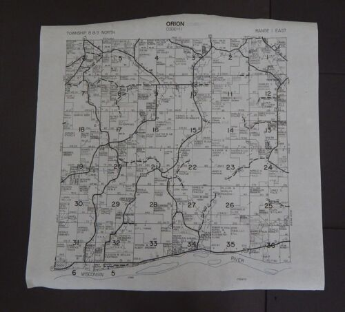 Wisconsin Richland County Map Orion Township c.2010 Master