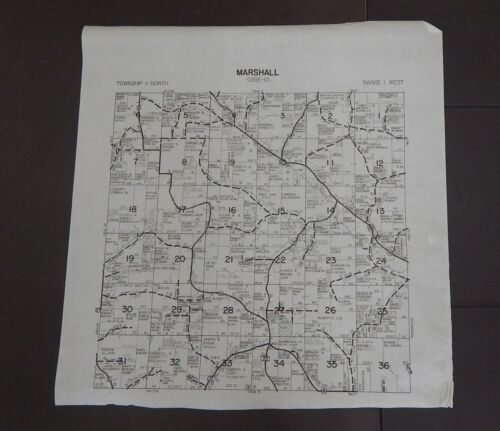 Wisconsin Richland County Map Marshall Township c.2010 Master