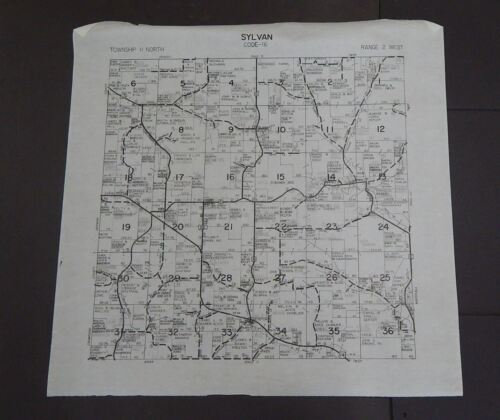 Wisconsin Richland County Map Sylvan Township c.2010 Master