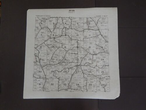Wisconsin Richland County Map Akan Township c.2010 Master
