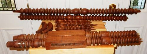 Antique Spindles & Posts Spool / Jenny Lind Bed Architectural Salvage