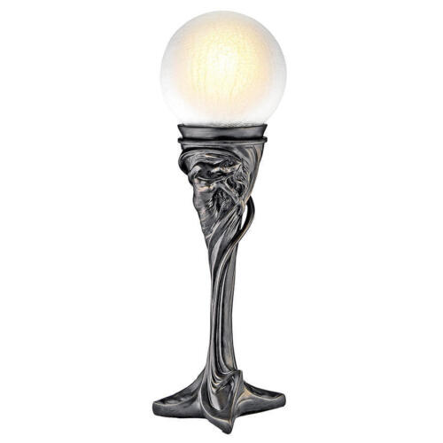 Artistic Art Deco Swirling Lady of Wonder Glass Orb Table Lamp Accent Light NEW