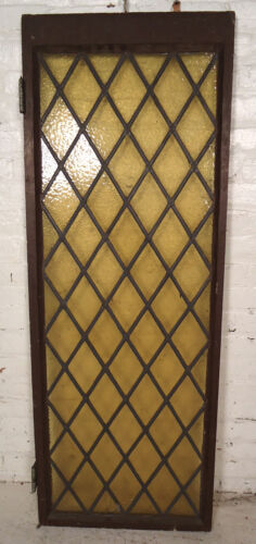Vintage Stained Glass Window Panel (08093)NS