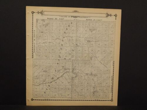California Tulare County Map Sequoia Township 17 Dbl Sd 1892  !W12#68