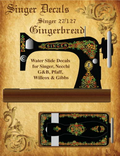 Singer Moderl 27 Gingerbread Style Sewing Machine Restoration Decals 3 Color
