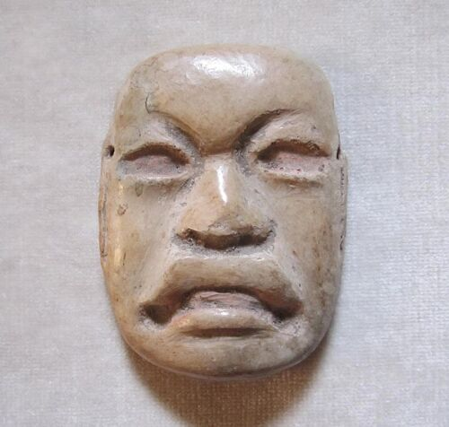 Ancient PRE-COLUMBIAN OLMEC TERRACOTTA MASK, circa 1200 - 600 BC.