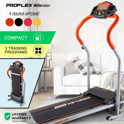 【UP TO 20%OFF】PROFLEX Electric Treadmill Compact Machine Walking Exercise <br/> Up to 20% OFF. Try PLEASE10 in Checkout. T&Cs Apply