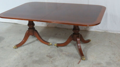 Henredon Dining Room Table Mahogany Set Banded