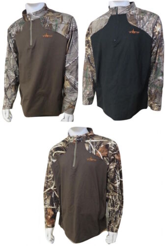 Mens Realtree Xtra Camouflage Performance Layer Camo Shirt Zip Pullover by Habit