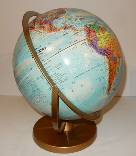 "Vintage Replogle World Nations Series 12"" Globe Made in USA"