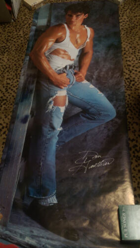 YOUNG GUN Dan Gauthier Door Size POSTER 1988 Male Model Chippendales PlayGirl