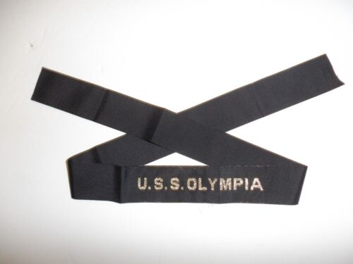 0538 USS Olympia Hat Tally US Navy IR31AReproductions - 156386