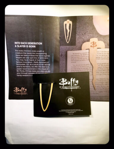 """Buffy the Vampire Slayer """"Mr. Pointy"""" fermalibro Bookmark LootCrate New WithCard"""