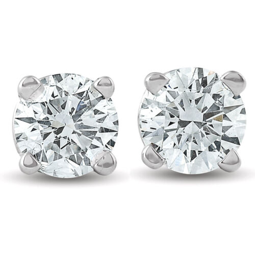 13 ctw 14k White Gold Diamond Stud Earrings