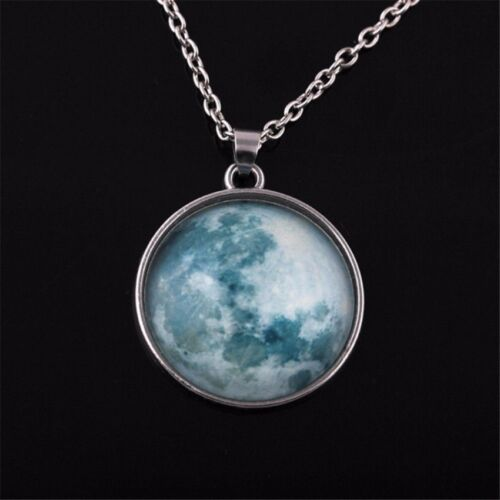 Moon Necklace Round Glow in the Dark Necklace (Teal)  <br/> Paypal Accepted✔Same Business Day*Dispatch✔Powerseller✔