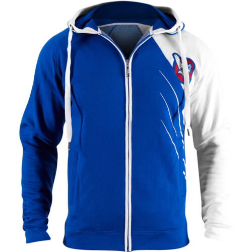 Hayabusa Recast Series Athletic Fit Zip-Up Hoodie - Blue/White - boxing mma <br/> Exclusive Seller of Hayabusa on eBay
