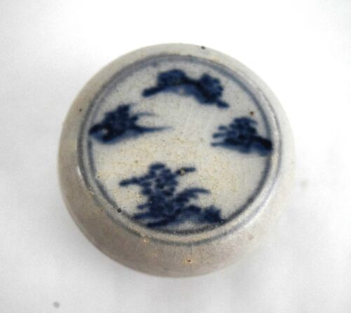 Hoi An - 15th Century - Perfect, Blue White Covered Box, w/ Landscape 945