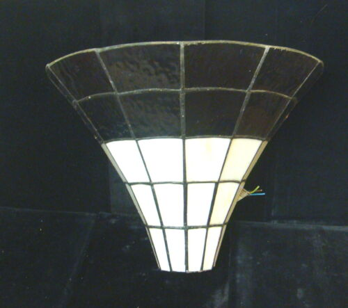 Vintage European Art Deco Stained Glass Wall Sconce #2