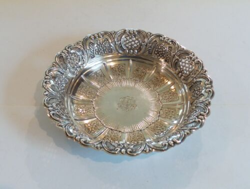 Continental .800 Silver Embossed Deep Bowl, 390 grams