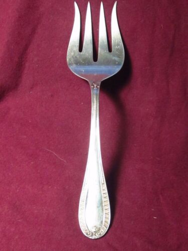 """.800 SILVER Salad serving Fork 9""""  93g  no mono marked 800 72PA  A.P.I.S.Italian"""