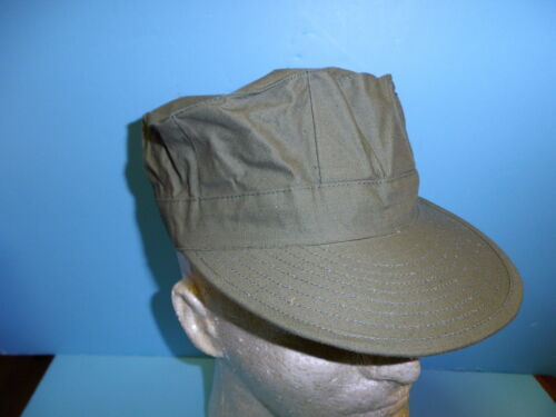 b1539-60 US Navy Vietnam OD non ripstop utility cap size 59-60 W7AReproductions - 156445