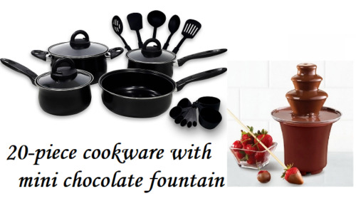 Keimav 20-piece Cookware with Nylon Utensil w/ Mini Chocolate Fountain <br/> Paypal Accepted✔Same Business Day*Dispatch✔Powerseller✔