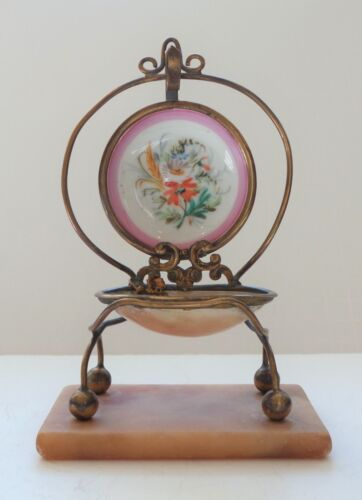 19th C. PALAIS ROYAL Pocket Watch Stand Holder, Mother of Pearl