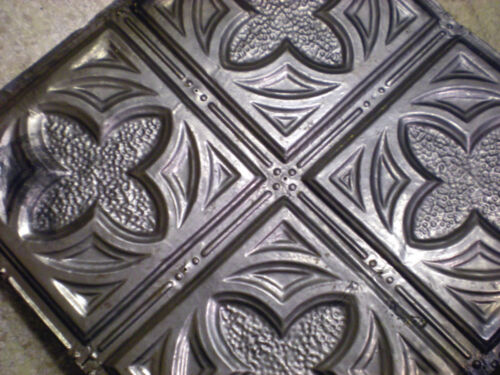 Antique Gothic Victorian Ceiling Tin Tile Canvas Shabby Chic Clover Quatrefoil