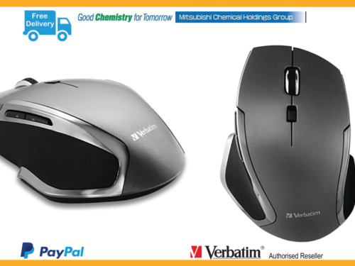 ($0p&h) Verbatim Wireless Notebook 6 Button Deluxe Blue LED Mouse Graphite 98621