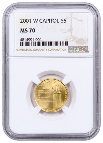 2001-W U.S. Capitol Visitor Center $5 Gold Commemorative Coin NGC MS70 SKU20461 <br/> Buy With Confidence from ModernCoinMart (MCM) on ebay