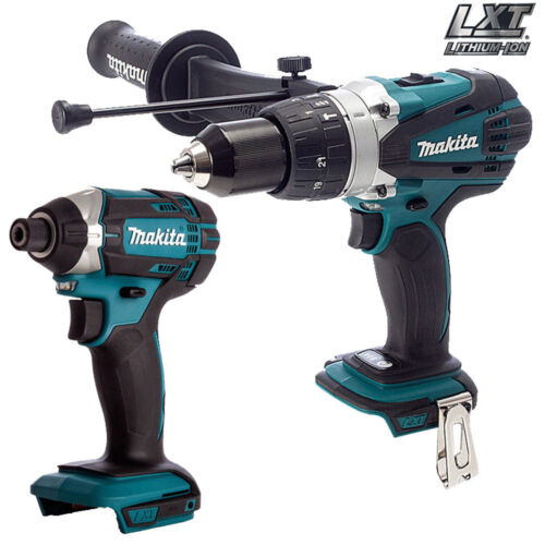Makita 18V LXT DHP458Z Combi Drill With Makita DTD152Z Impact Driver Twin Pack