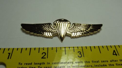 Navy Marine Corps Jump Wings Parachutist Badge  / Gold Mirror Finish  2 7/8 inchMedals, Pins & Ribbons - 104024