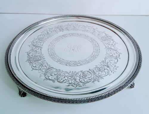 TIFFANY & CO STERLING SALVER ENGRAVED ACORNS CIRCA 1860 BY JC MOORE & SON, MAKER