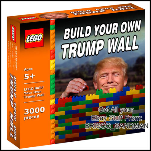 Fridge Fun Refrigerator Magnet DONALD TRUMP Build Your Own Wall Lego Parody