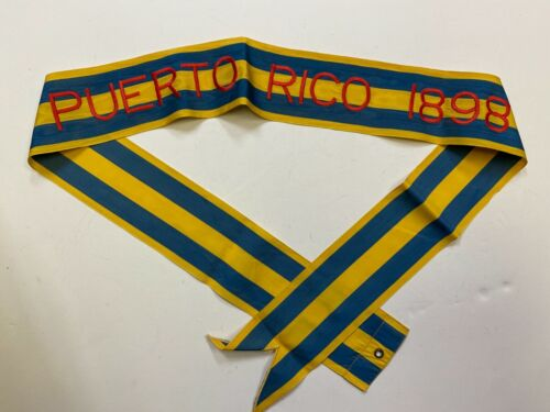 St624 US Army Streamer War with Spain Puerto Rico 1898 IR41