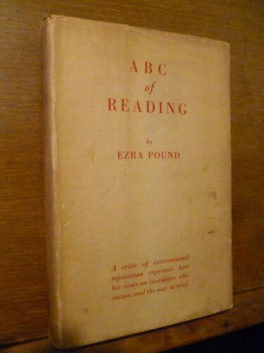 A B C OF READING BY EZRA POUND London 1934 first edition